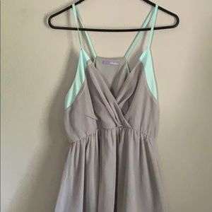 Grey and teal dress